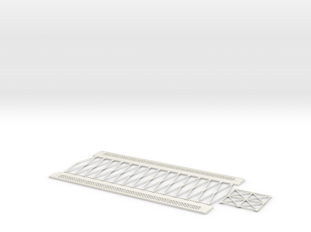 HOV6M01 Modular metallic viaduct 3 in White Natural Versatile Plastic