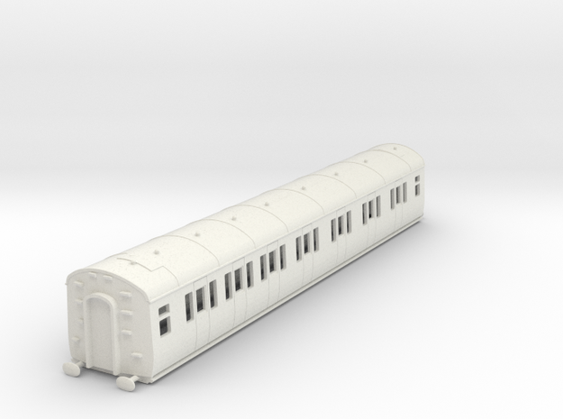 o-87-gwr-e127-lh-comp-coach in White Natural Versatile Plastic