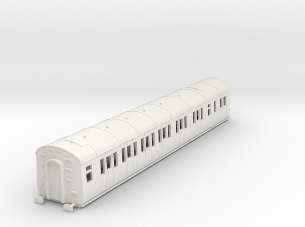 o-87-gwr-e128-lh-brake-comp-coach in White Natural Versatile Plastic