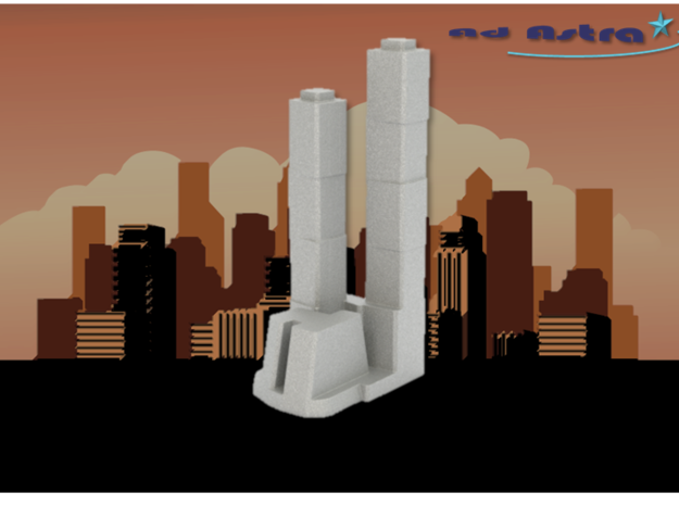 City of Capitals - Moscow (1:4000) in White Natural Versatile Plastic