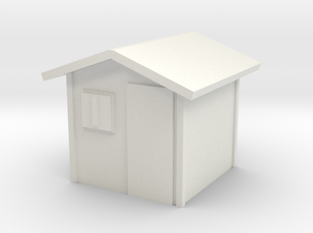 Garden Shed 1/72 in White Natural Versatile Plastic