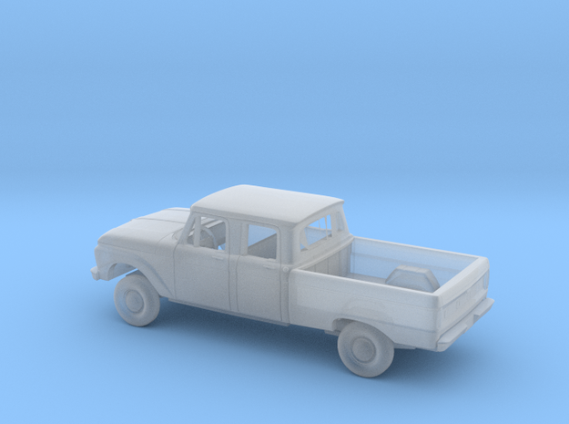 1/87 1966 Ford F Series Crew Cab Reg Bed Kit in Smooth Fine Detail Plastic
