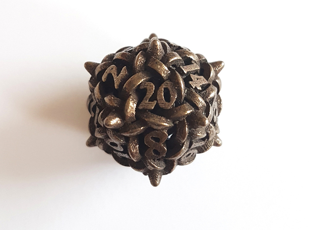 Knot D20 in Polished Bronze Steel