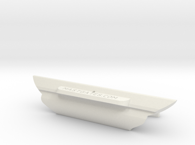 DM5, Melbec, Slot= 92mm in White Natural Versatile Plastic