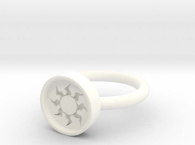White Ring10 3d printed