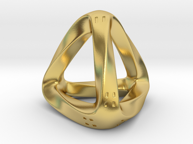 Twisted D4 in Polished Brass