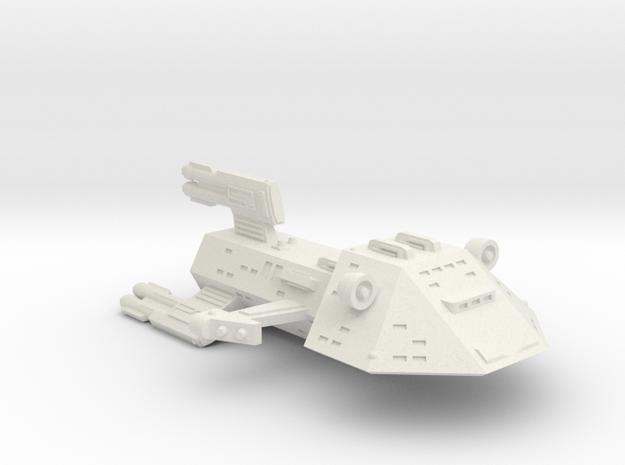 3788 Scale Kzinti X-Ship Light Cruiser (CMX) SRZ in White Natural Versatile Plastic
