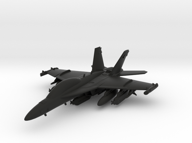 Boeing EA-18G Growler in Black Natural Versatile Plastic: 1:120 - TT