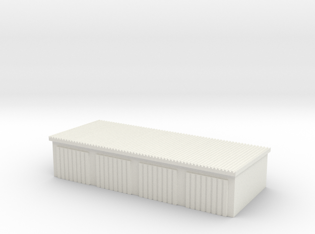 4 Slots Garage 1/100 in White Natural Versatile Plastic