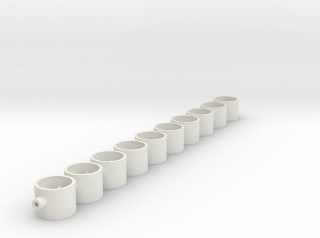 9x7x2_38 in White Natural Versatile Plastic