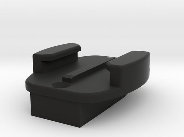 Camera Mount to Go Pro Quick Release Adapter in Black Natural Versatile Plastic