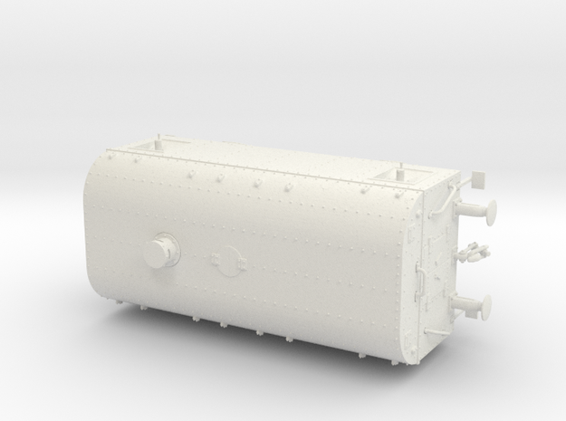1/35th scale Armoured traincar, casemate in White Natural Versatile Plastic