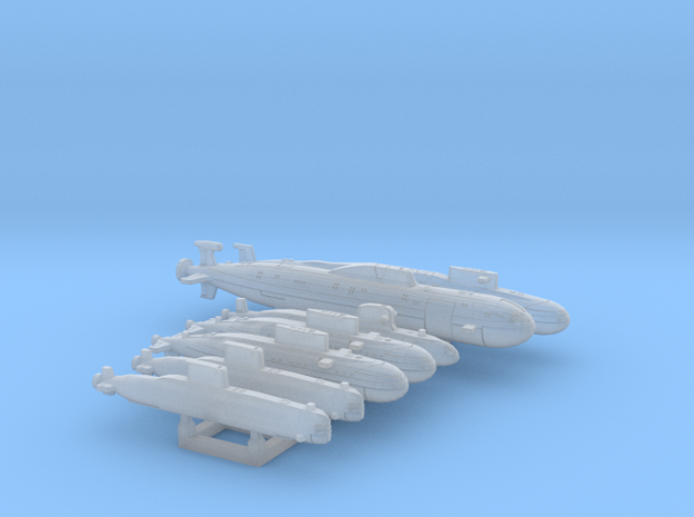 INDIAN NAVY SUBS variety set FH - 2400 in Smooth Fine Detail Plastic