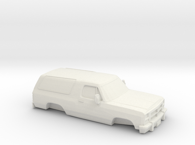 1/64 1991-93 Dodge Ramcharger Shell in White Natural Versatile Plastic