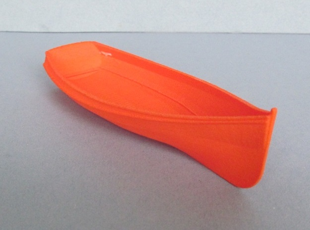 Coble Style Boat Hull  in White Natural Versatile Plastic