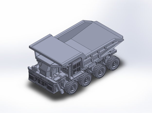 WTW220e dumptruck Sanjiang in Smoothest Fine Detail Plastic: 1:400