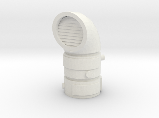 Pipeline Exhaust Vent 1/35 in White Natural Versatile Plastic