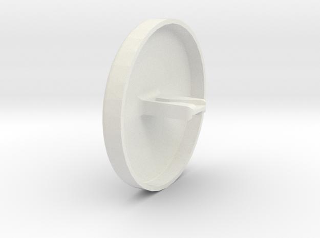 Door Key Plug, single in White Natural Versatile Plastic