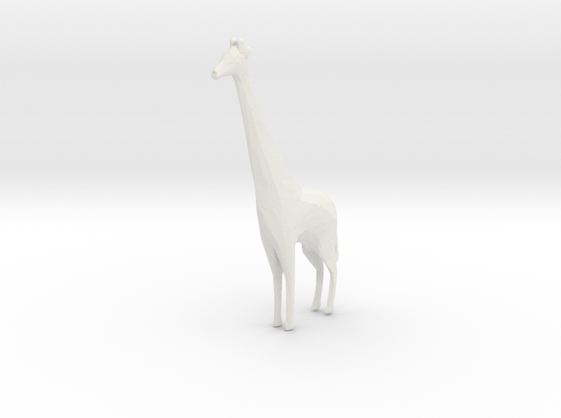 Miniature 1:48 Giraffe in White Natural Versatile Plastic