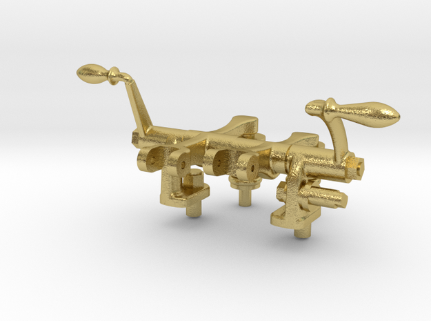 Rocker Arm Asy- Hicks Marine Engine in Natural Brass: 1:12