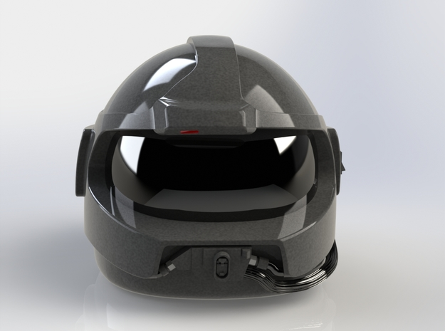 Airwolf Supercopter 3D Helmet 1/6 scale including  in White Natural Versatile Plastic