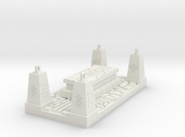 Mayan Sun God Altar Combined Set in White Natural Versatile Plastic