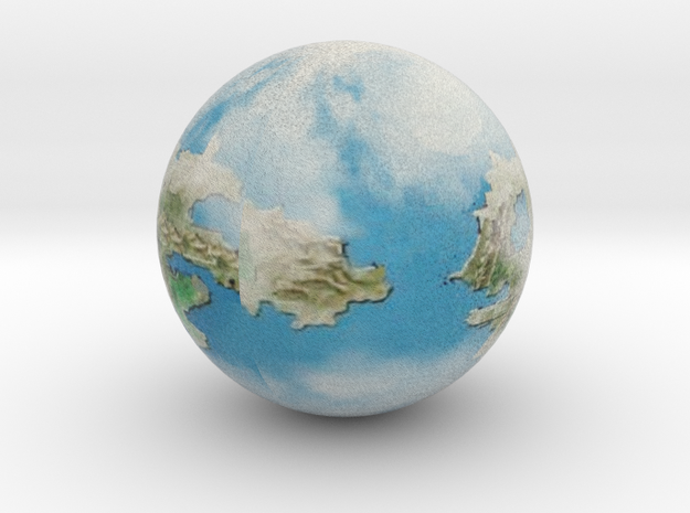 Andoria with Clouds in Natural Full Color Sandstone