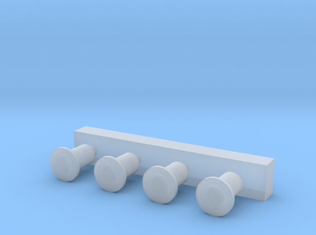 OO9 Scale SR #2 Buffers in Smoothest Fine Detail Plastic