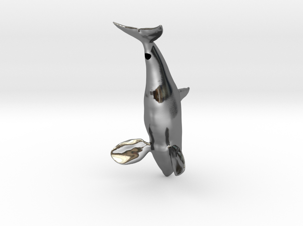 Orca-Male-Hollow in Fine Detail Polished Silver