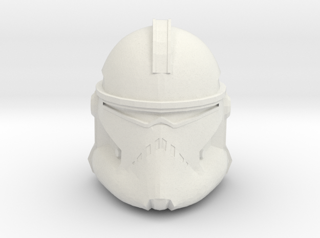 Neyo/Fordo/BARC Trooper Helmet | CCBS Scale in White Natural Versatile Plastic