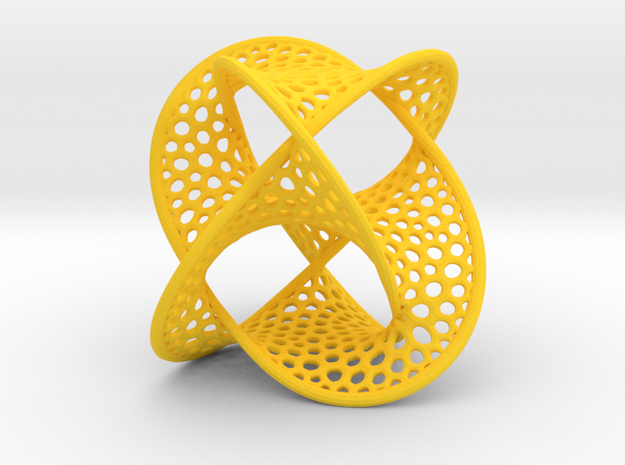 Borromean Rings Seifert Surface (5cm) 3d printed