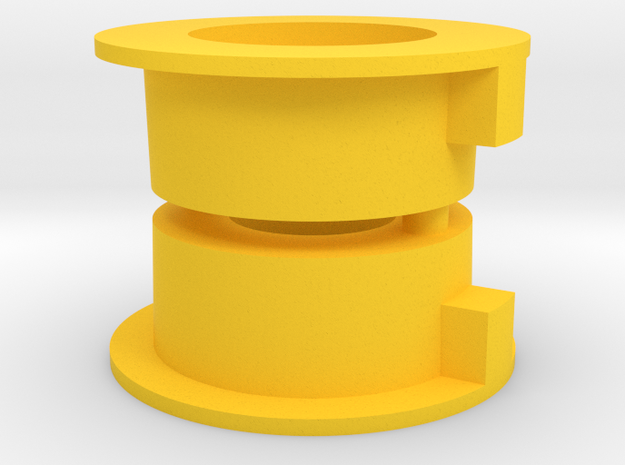 Reproduction of CRP 1608  Tamiya ORV Bearing Suppo in Yellow Processed Versatile Plastic