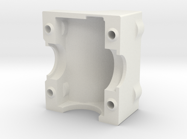 King Of Crushers Transmission Cover in White Natural Versatile Plastic: 1:10