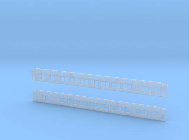 14-Section Tourist (Plan 4061C) - Car Sides in Smooth Fine Detail Plastic