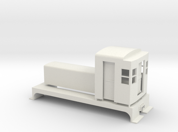 Northern Pacific Shop Switcher On30 in White Natural Versatile Plastic