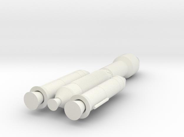 Chandrayaan 2 Rocket - 10cm in White Natural Versatile Plastic