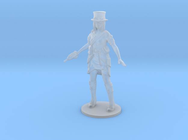 Steampunk Detective girl Survivor DnD miniature in Smooth Fine Detail Plastic