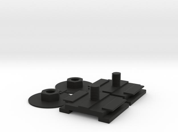 Front Bumper Bushing Set for a Scirocco MK1 in Black Natural Versatile Plastic