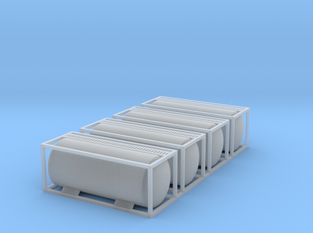 TankTainer Set of 4 - Z scale in Smooth Fine Detail Plastic