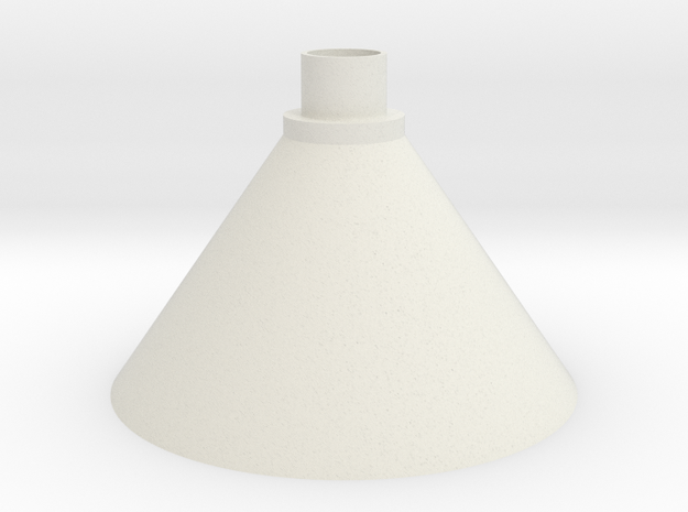 Airsoft BB Funnel for Water Bottle in White Natural Versatile Plastic