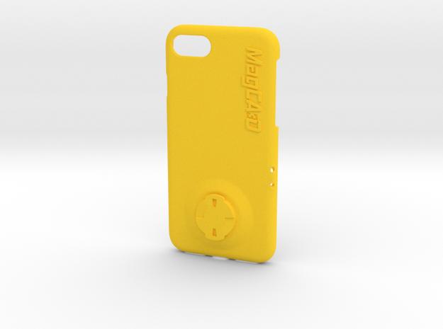iPhone 7 Wahoo Mount Case in Yellow Processed Versatile Plastic