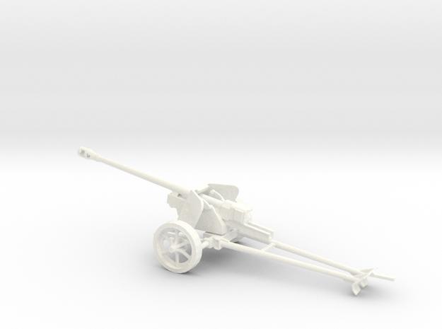 1/43 scale Pak40 german anti tank gun in White Processed Versatile Plastic