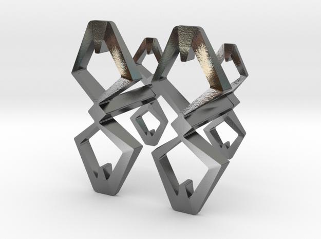 """Head To Head, Again"" Cufflinks (customizeable) 3d printed"