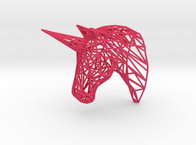 Wire Unicorn Head Statue: 3 Inch