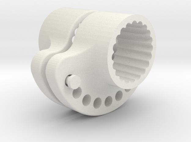 OD36-SUPPORT LEST  AR-PINEWOOD-V1-Splined-X2 in White Natural Versatile Plastic