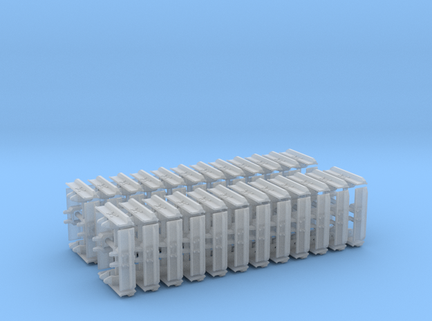 """1:50 32"""" Single grouser tracks for the UH PC210 in Smooth Fine Detail Plastic"""