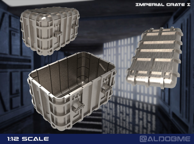 Star Wars Imperial Crate 1 (2 Parts) in Gray PA12