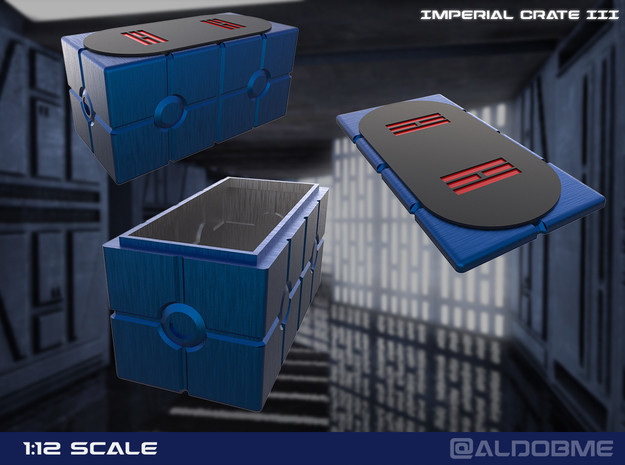 Imperial Crate 3 (2 Parts) in Gray PA12