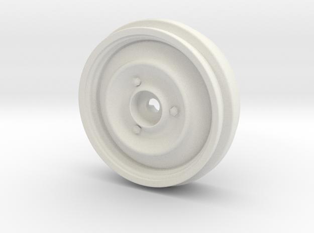 Tamiya 1/10 Citroen 2cv Wheel (1-piece) in White Natural Versatile Plastic