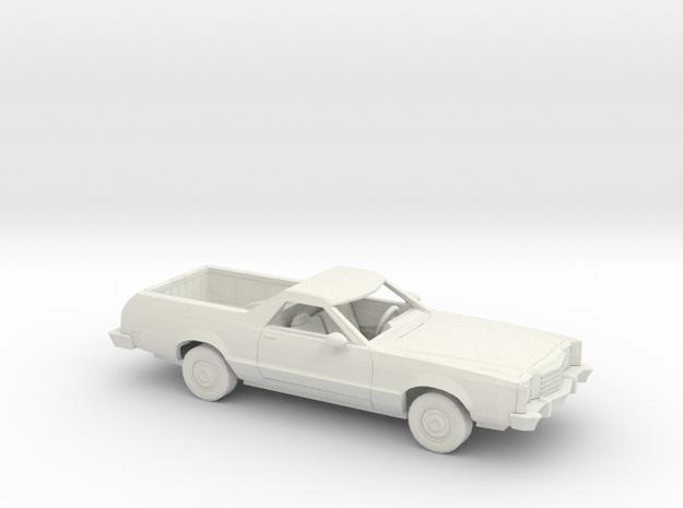 1/64 1977-79 Ford Ranchero Kit in White Natural Versatile Plastic